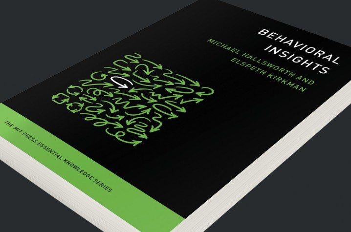 behavioral insights book on a black background