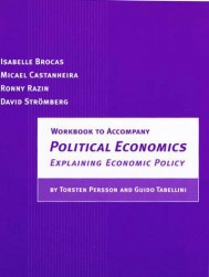 Workbook to Accompany Political Economics