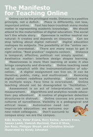 The Manifesto for Teaching Online