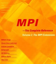 MPI - The Complete Reference, Volume 2