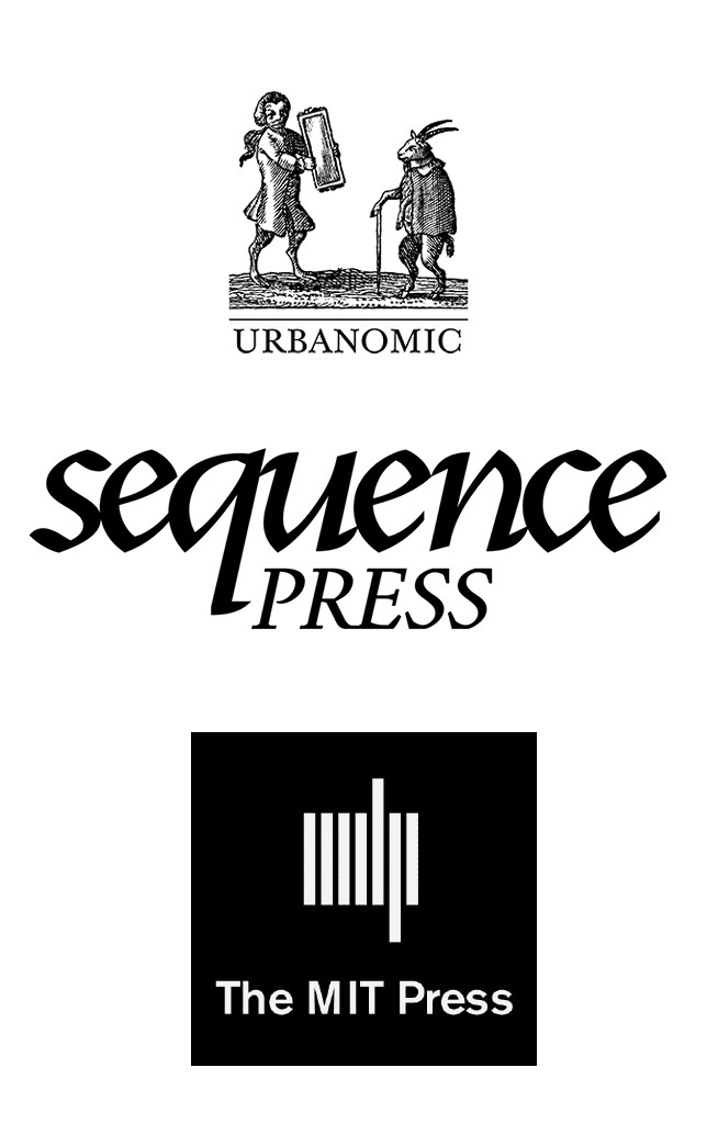 Logos for Urbanomic, Sequence, and the MIT Press