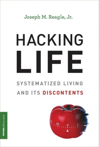 book jacket for Hacking Life, showing a tomato timer.