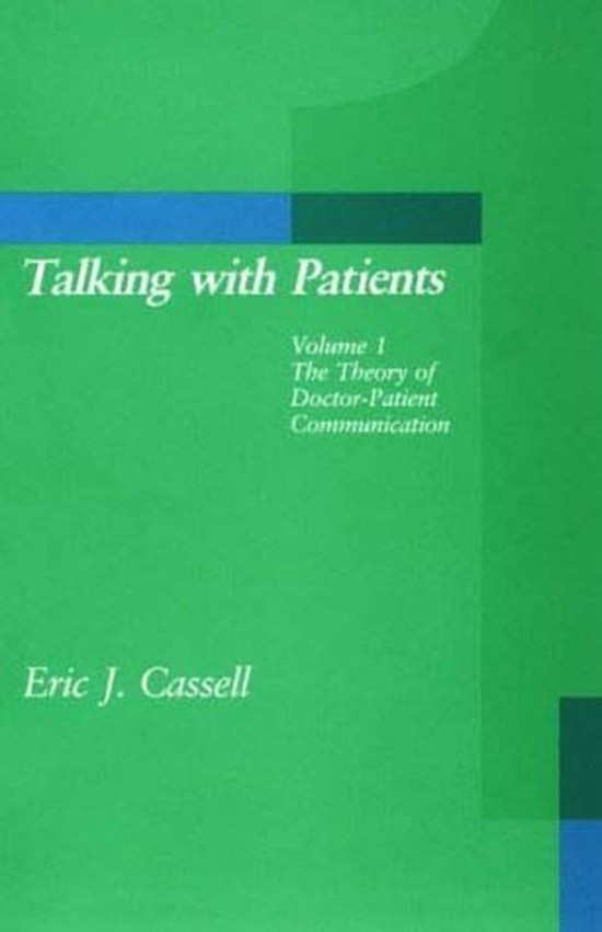 Talking with Patients, Volume 1