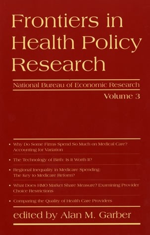 Frontiers in Health Policy Research, Volume 3