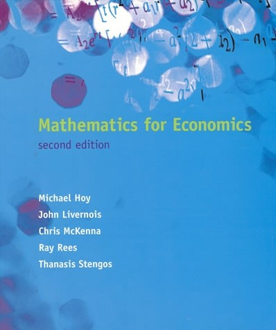 Mathematics for Economics, Second Edition