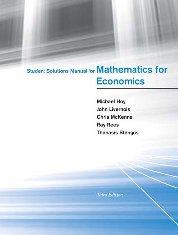 Student Solutions Manual for Mathematics for Economics, Third Edition