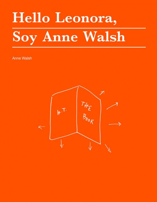 Hello Leonora, Soy Anne Walsh