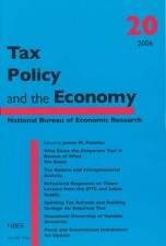 Tax Policy and the Economy, Volume 20