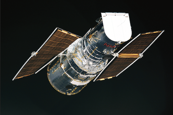 Hubble Space Telescope in orbit.